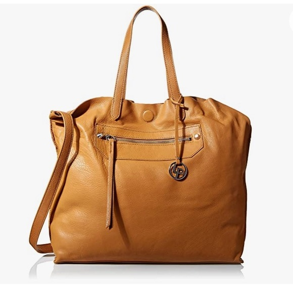 Linea Pelle Unlined Leather Sienna Tote Camel GUC